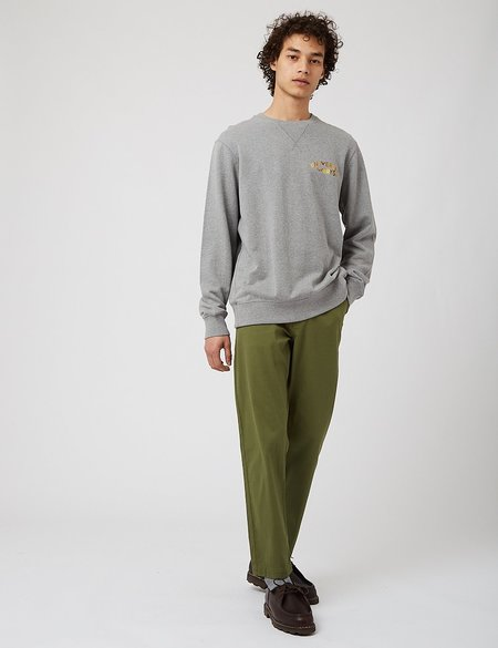 Universal Works Embroidered Loopback Sweatshirt - Grey