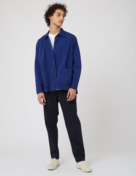 Universal Works Travail Recycled Nylon Shirt - Blue