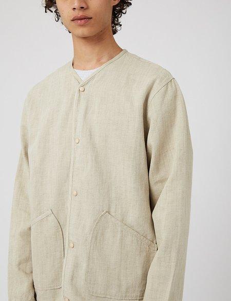 Universal Works Liner Jacket in Vintage Denim - Ecru