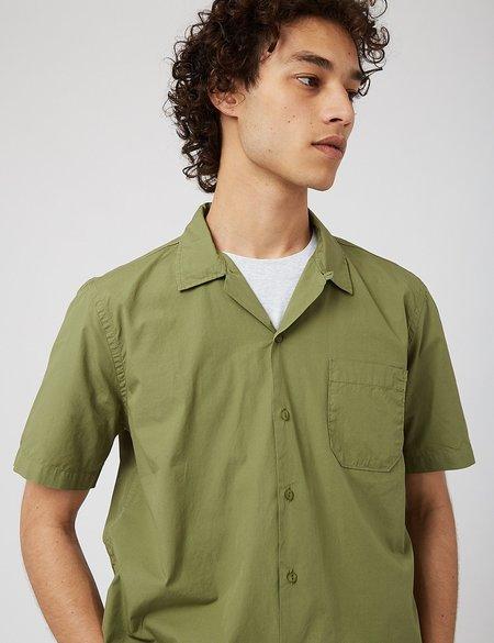 Universal Works Road Shirt in Organic Poplin - Olive