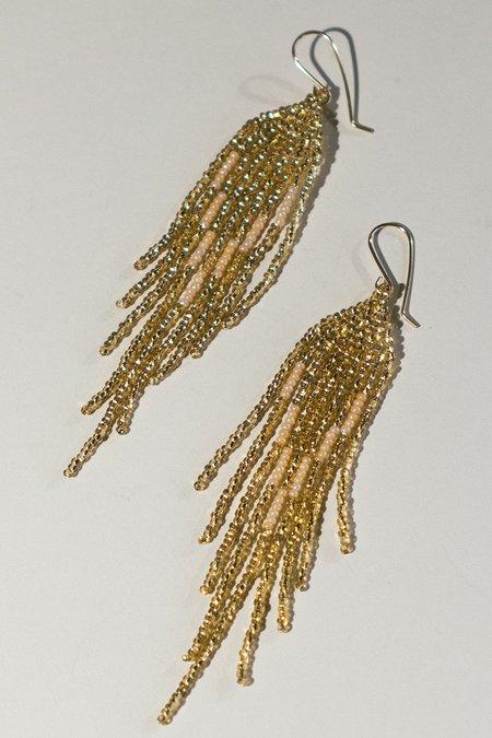 Lu in the Frey Disco Fringe Earrings