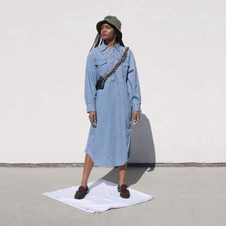GANNI x Levi's Shirt Dress - Light Denim