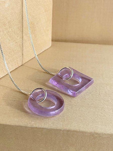 HighLow Shape Threader Earrings - Lilac