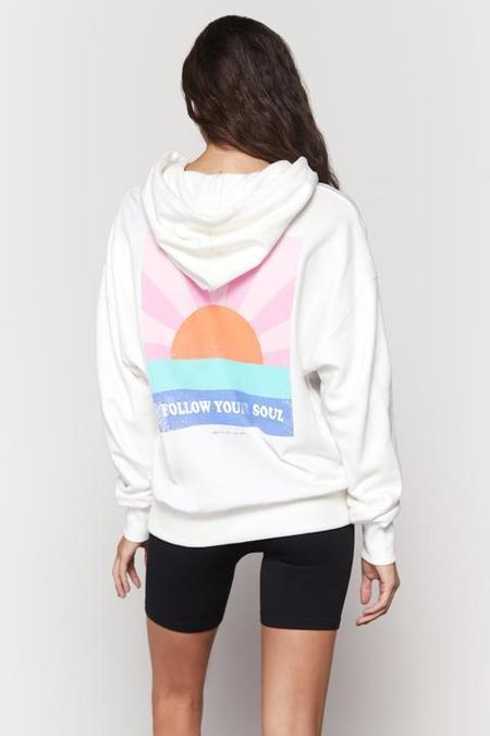 Spiritual Gangster Follow Your Soul Phoebe Oversized Hoodie - stone