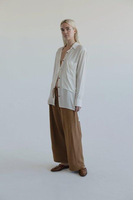 Vincetta Silk Shirt - bone