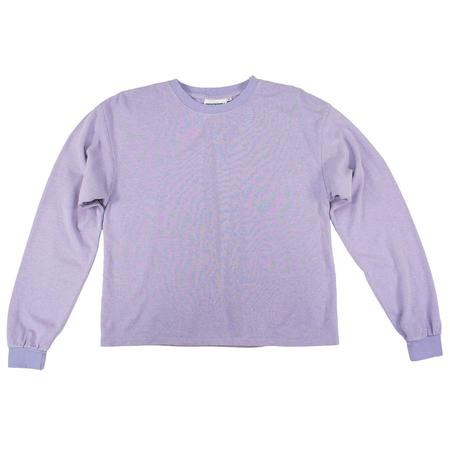 Jungmaven Cropped Long Sleeve Tee - Misty Lilac