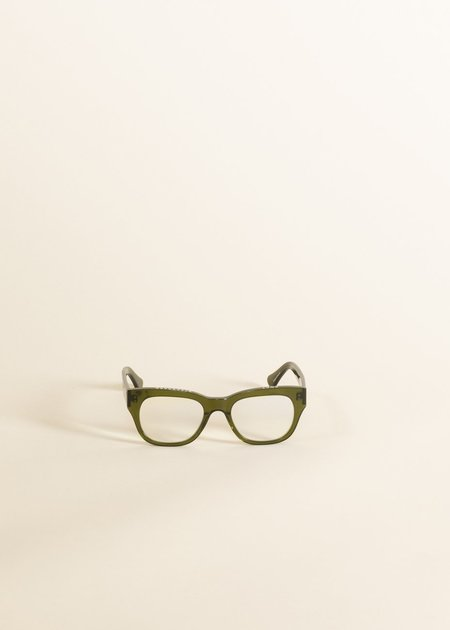 Caddis Miklos Reader eyewear - heritage green