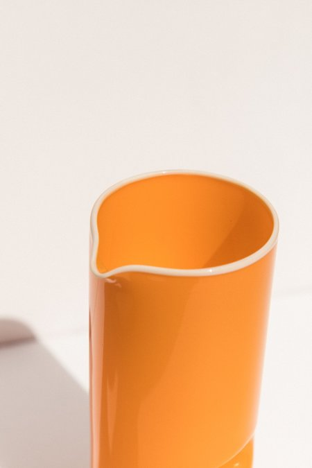 Drew Spangenberg Thumb Print Jug glass - Vintage Orange