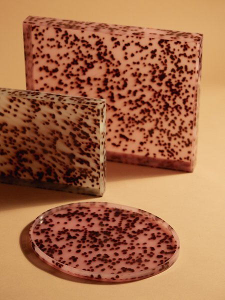 Aeyre Oval Tray - Pink Spots