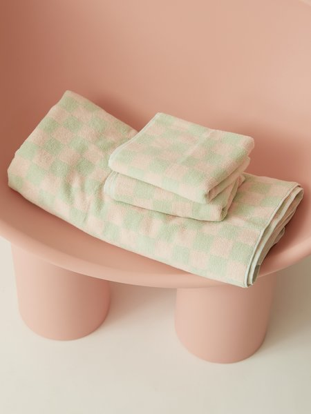 Aeyre Towel Set - Check Mint