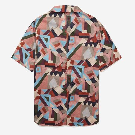 Albam Miles S/S Vacation Shirt - Pastel Aerial Print
