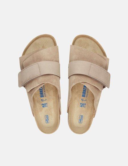 Birkenstock Kyoto Nubuck Regular Soft Footbed shoes - Biege
