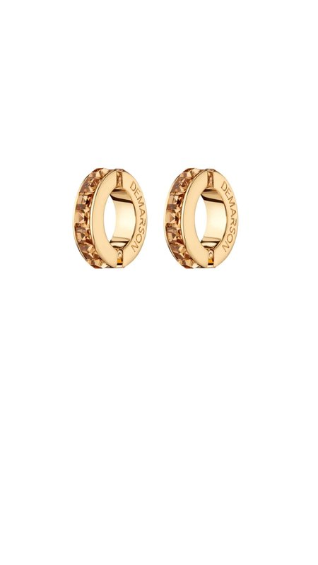 Demarson Eden Cuff Earrings - Peach/Topaz