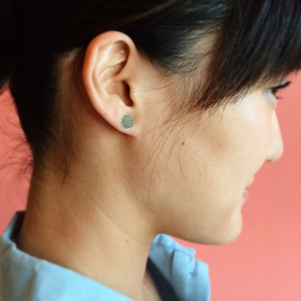 Kathleen Whitaker Gold Dot Earring