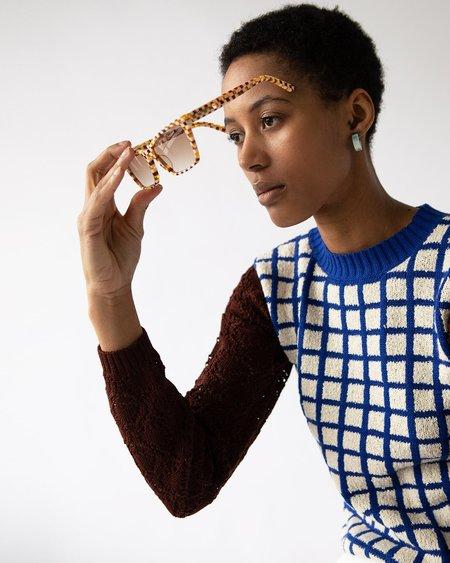 Machete Sally Sunglasses - Tortoise Checkers