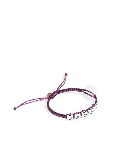 Maison Irem Message Bead Eye Bracelet - Purple J'adore