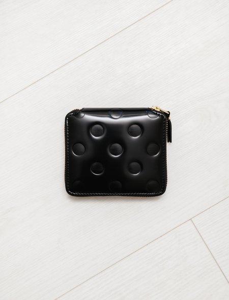 Comme des Garçons Polka Dots Embossed SA2100NE Full Zip Wallet - Black