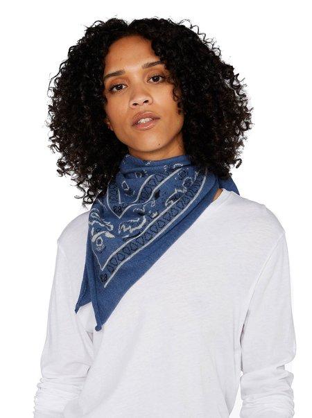 Organic by John Patrick Communitie Cashmere Bandana scarf - blue