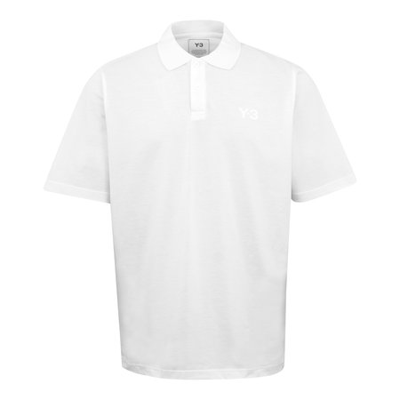 adidas Y-3 Classic Chest Logo Pique Polo Shirt - White