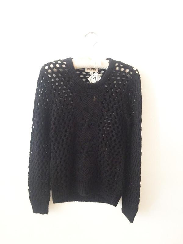 Pepin Macrame Crochet Sweater