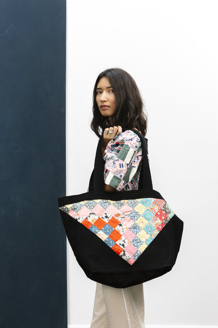 Carleen Patchwork Tote