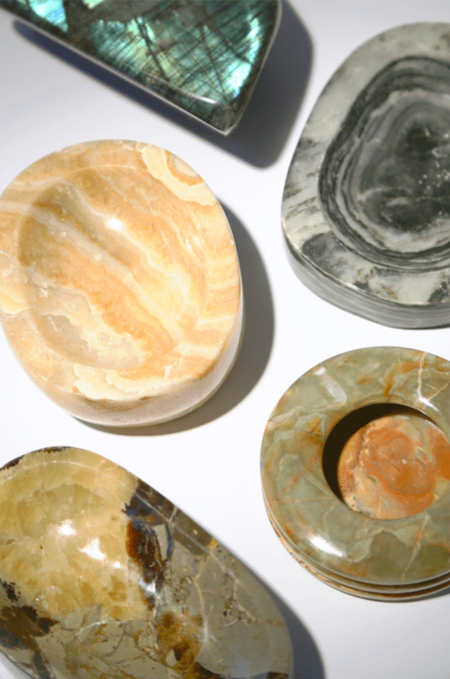 Modern Society Energy Infused Calcite Bowl - Yellow