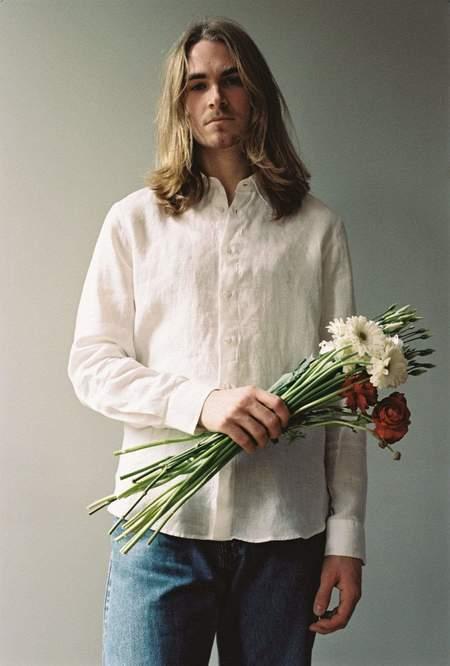 Unisex Modern Society Linen Shirt - White