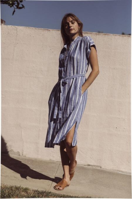 Trovata Astrid Easy Dress - Blue Awning Stripe