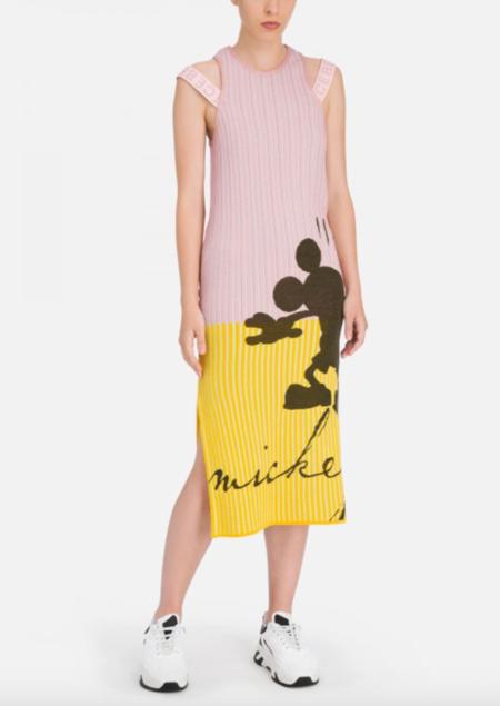Iceberg Mickey Knit Dress - pink/yellow