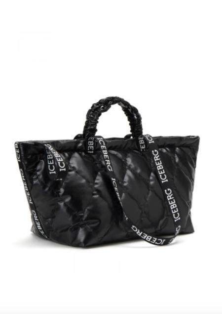 Iceberg Quilted Weekender Bag - black