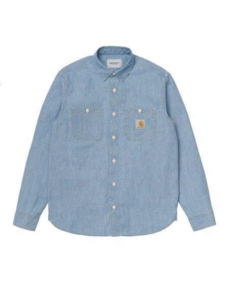 CARHARTT WIP LS Clink Shirt - Blue/Bleached