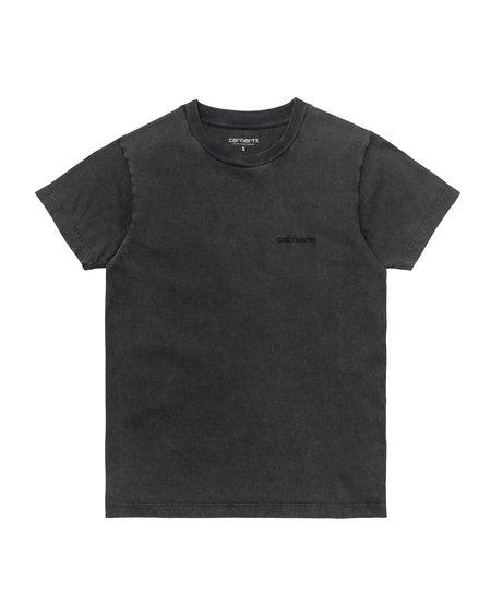 CARHARTT WIP W SS Mosby Script T-Shirt - Black/Acid Wash
