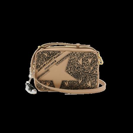 Golden Goose Hammered Leather Star Bag - Printed Hearts