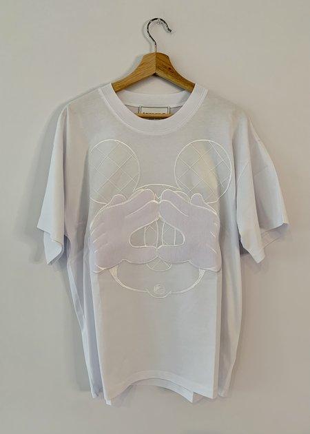 UNISEX Iceberg Mickey Mouse T- Shirt - White