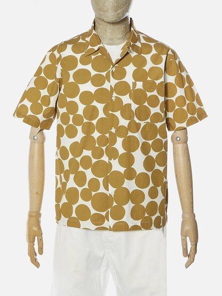 Universal Works Road Shirt - Gold Dot Print Poplin