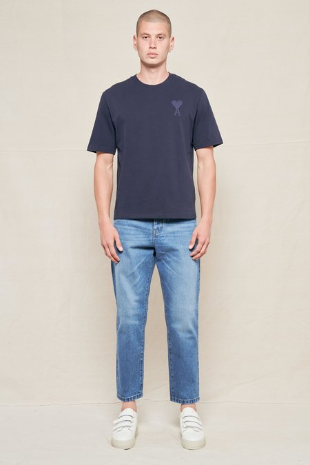 AMI Tapered Fit Jeans - Used Blue