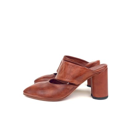 Shoto 10153 Heeled Mule - Brick