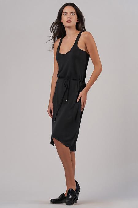 ATM Modal Interlock Tank Dress - Black