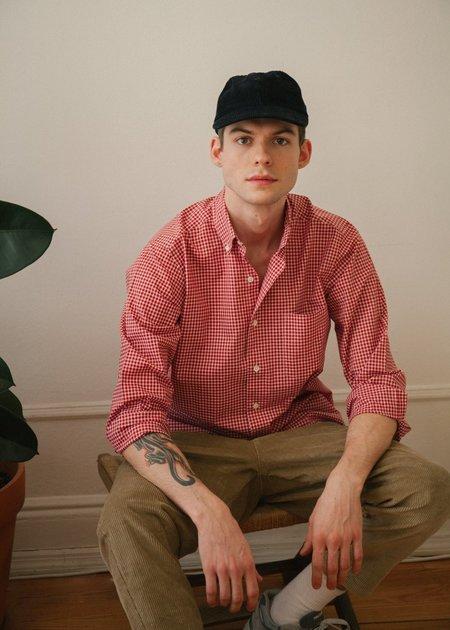 Steven Alan Single Needle Shirt - Red Check