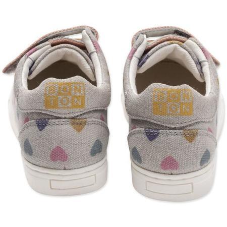 kids bonton hearts canvas shoe - gray