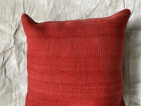 Cuttalossa & Co. II Kilim Throw Pillow - Tomato Red