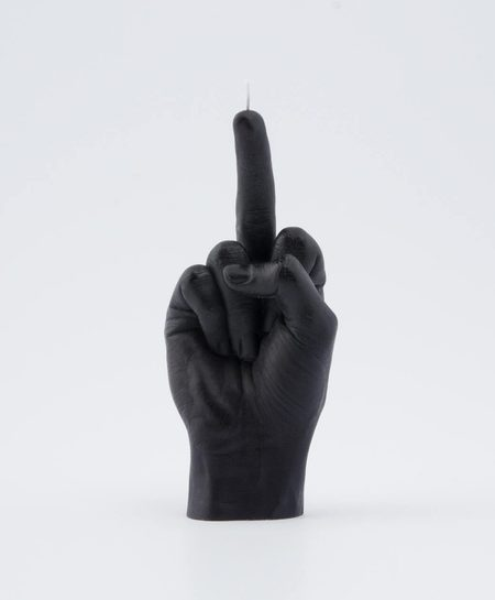 54celcius hand F*CK YOU! candle - black