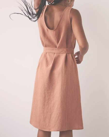 Eve Gravel Marigold Dress - Blush