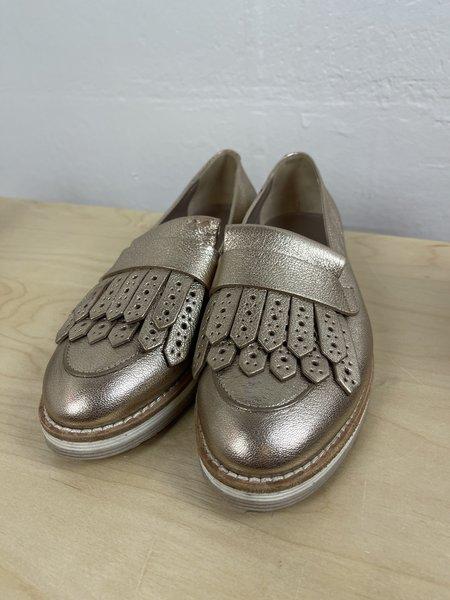 [pre-loved] AGL Metallic Loafer - Gold