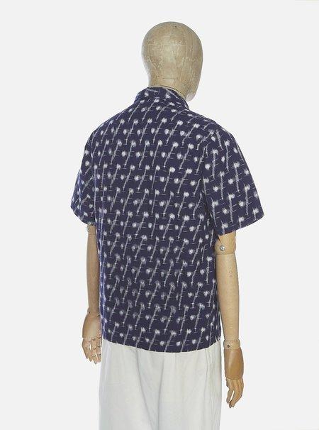 Universal Works Road Shirt - Indigo Handloom Ikat