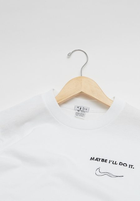 House of 950 Maybe I'll Do It Tee - White