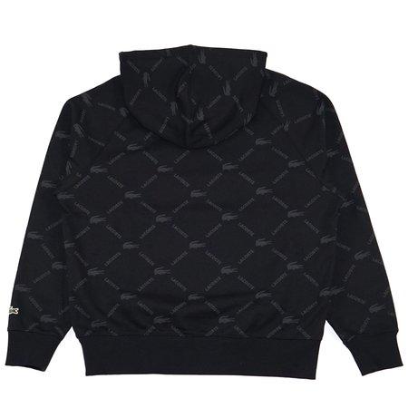Lacoste AOP Hoodie sweater - black