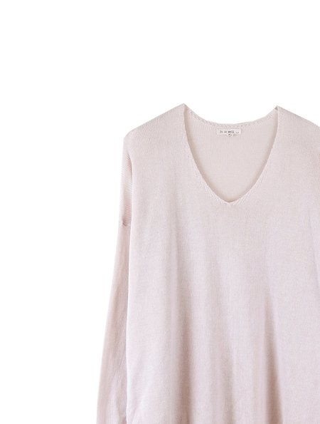 It Is Well L.A. Tencel Long Sleeve V-Neck Sweater