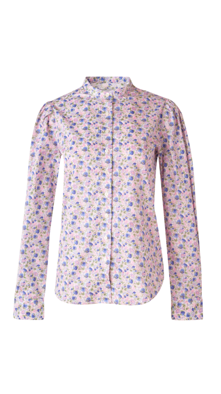 The Shirt by Rochelle Behrens Puffed Shoulder Shirt - Lavender Liberty