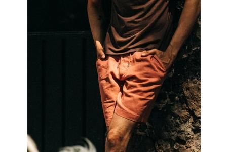 Taylor Stitch The Apres Short - Rust Hemp